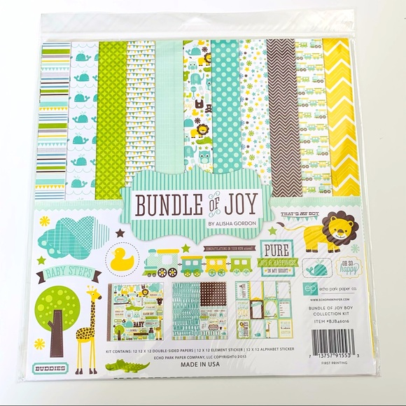 Bundle of Joy Boy Scrapbooking Kit